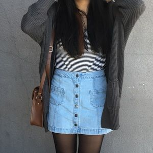 Forever 21 Vintage High Waist Denim Skirt